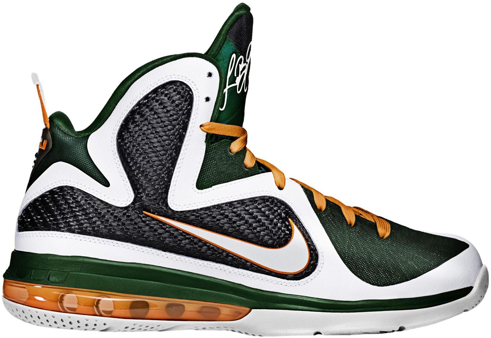 Nike LeBron 9 Miami Hurricanes - 469764-102