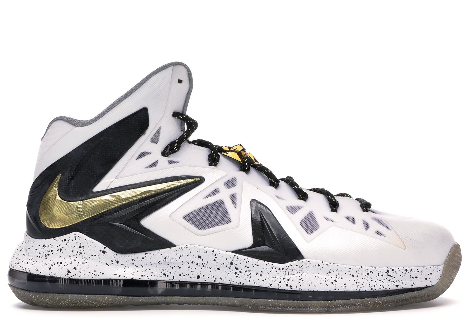 Nike LeBron X Elite+ White Gold