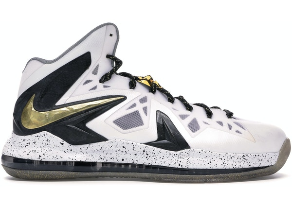 huge selection of f67a6 358db LeBron X Elite+ White Gold