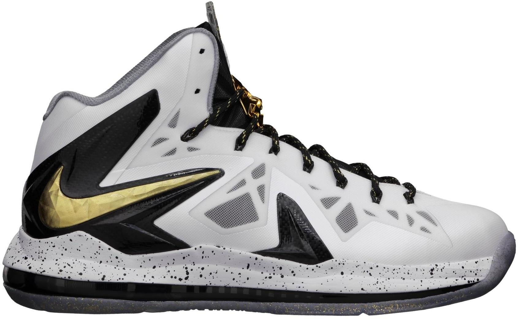 LeBron X Elite+ White Gold