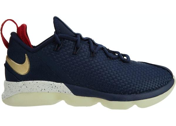012b8155b8cd Nike LeBron XIV Low Midnight Navy Metallic Gold