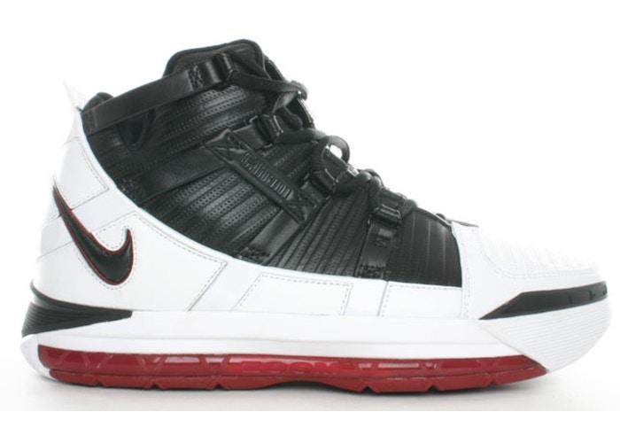 Zoom LeBron III White/Black-Varsity Crimson