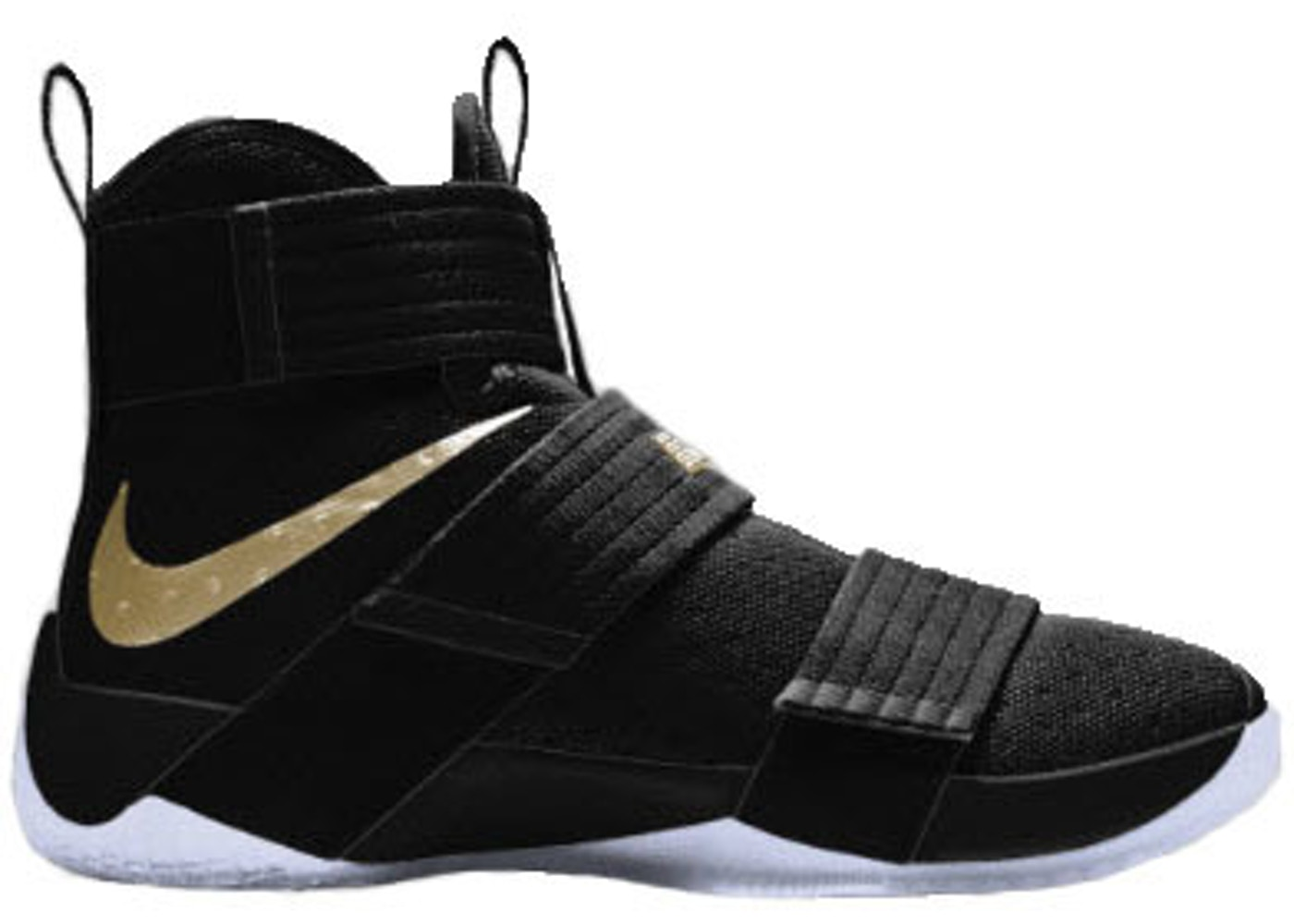 44c7e9918f081 LeBron Zoom Soldier 10 Black Gold (Nike iD) - 885682-991