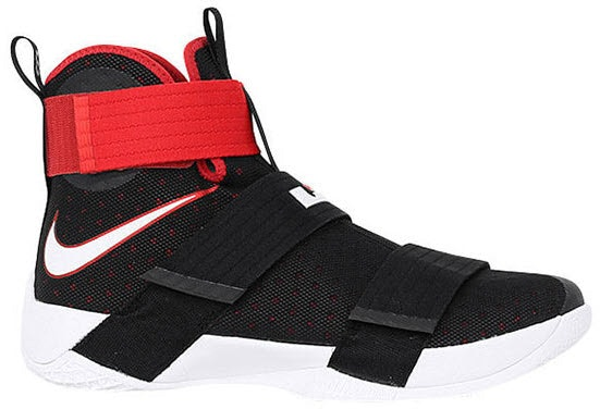 LeBron Zoom Soldier 10 Black Red