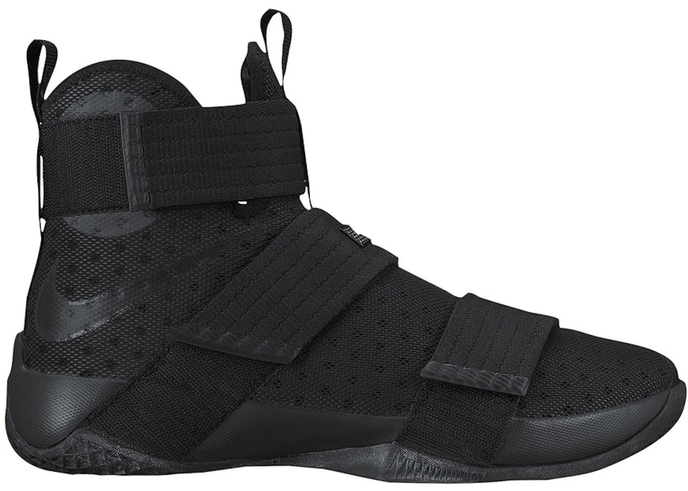Pornografía mientras tanto bolsillo  Nike LeBron Zoom Soldier 10 Black Space - 844374-001