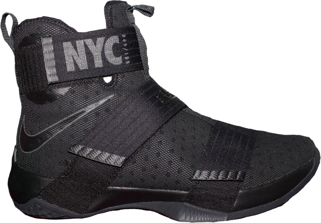 Nike Lebron Zoom Soldier 10 Nyc Soho Exclusive In Black/Black