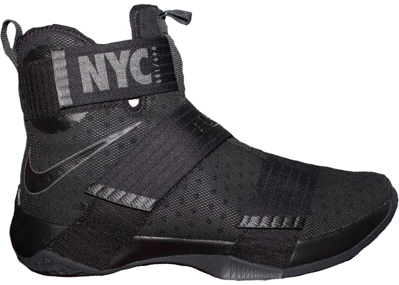 Nike LeBron Zoom Soldier 10 NYC SOHO Exclusive Sneakers (Black/Black)