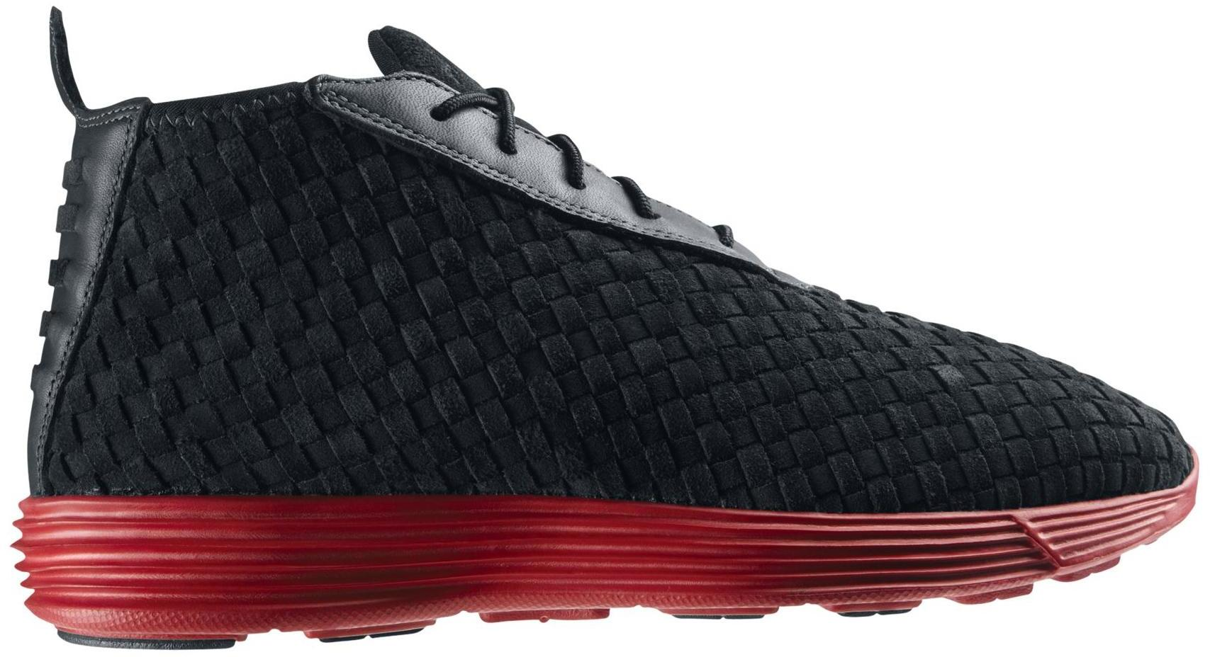 Nike Lunar Chukka Woven Black Red (GS) Sneakers (Black/Anthracite-Varsity Red)