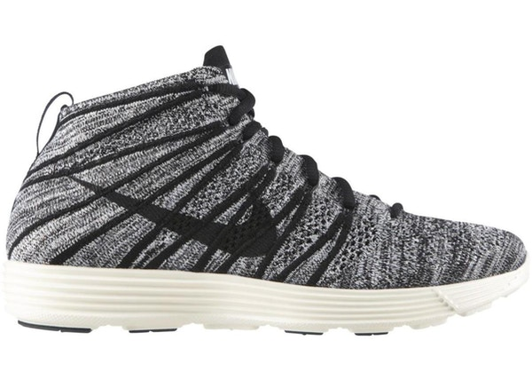 reputable site fce43 95c32 Nike Lunar Flyknit Chukka Black White Sail