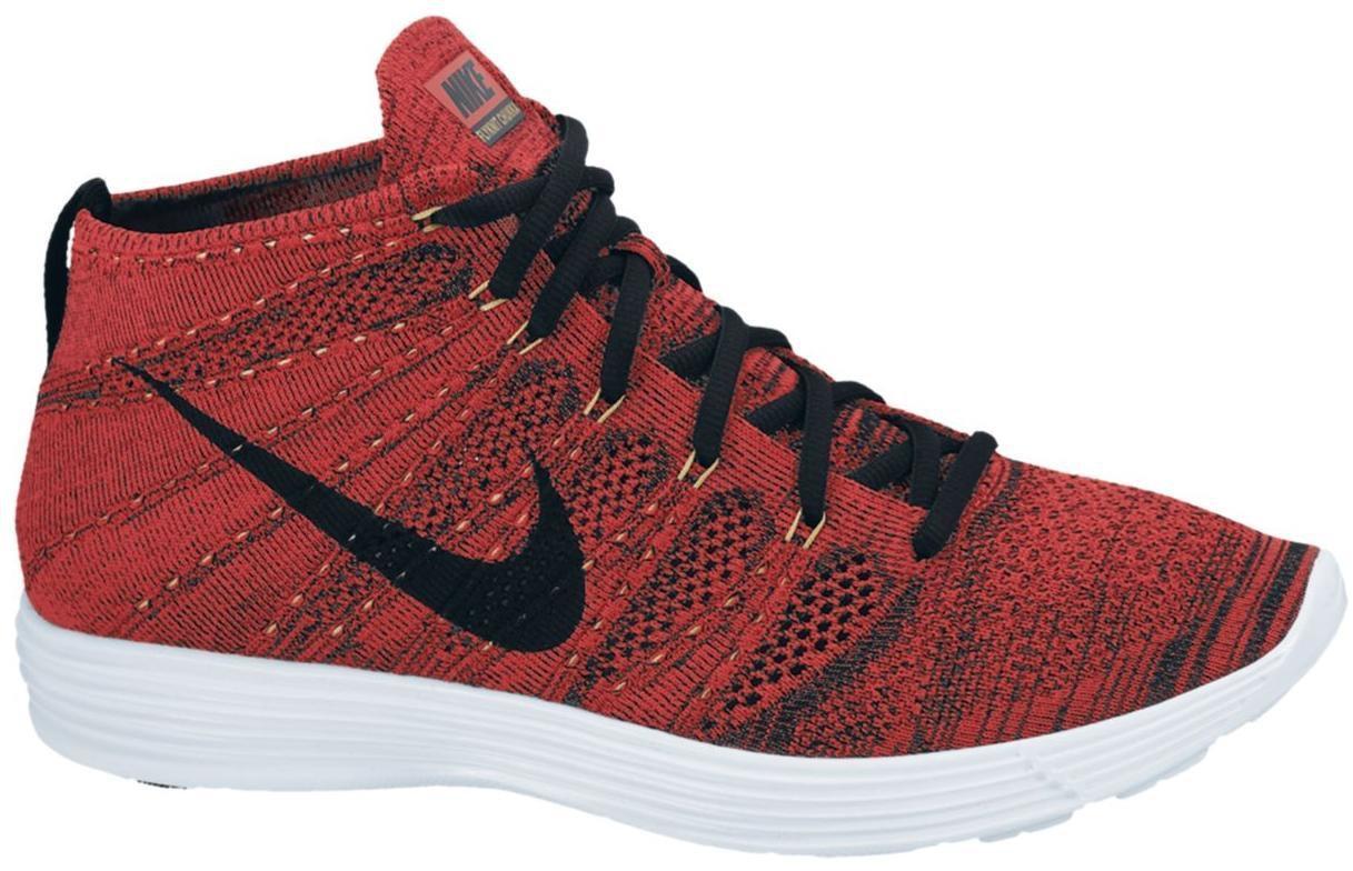 Nike Lunar Flyknit Chukka University Red Metallic Gold