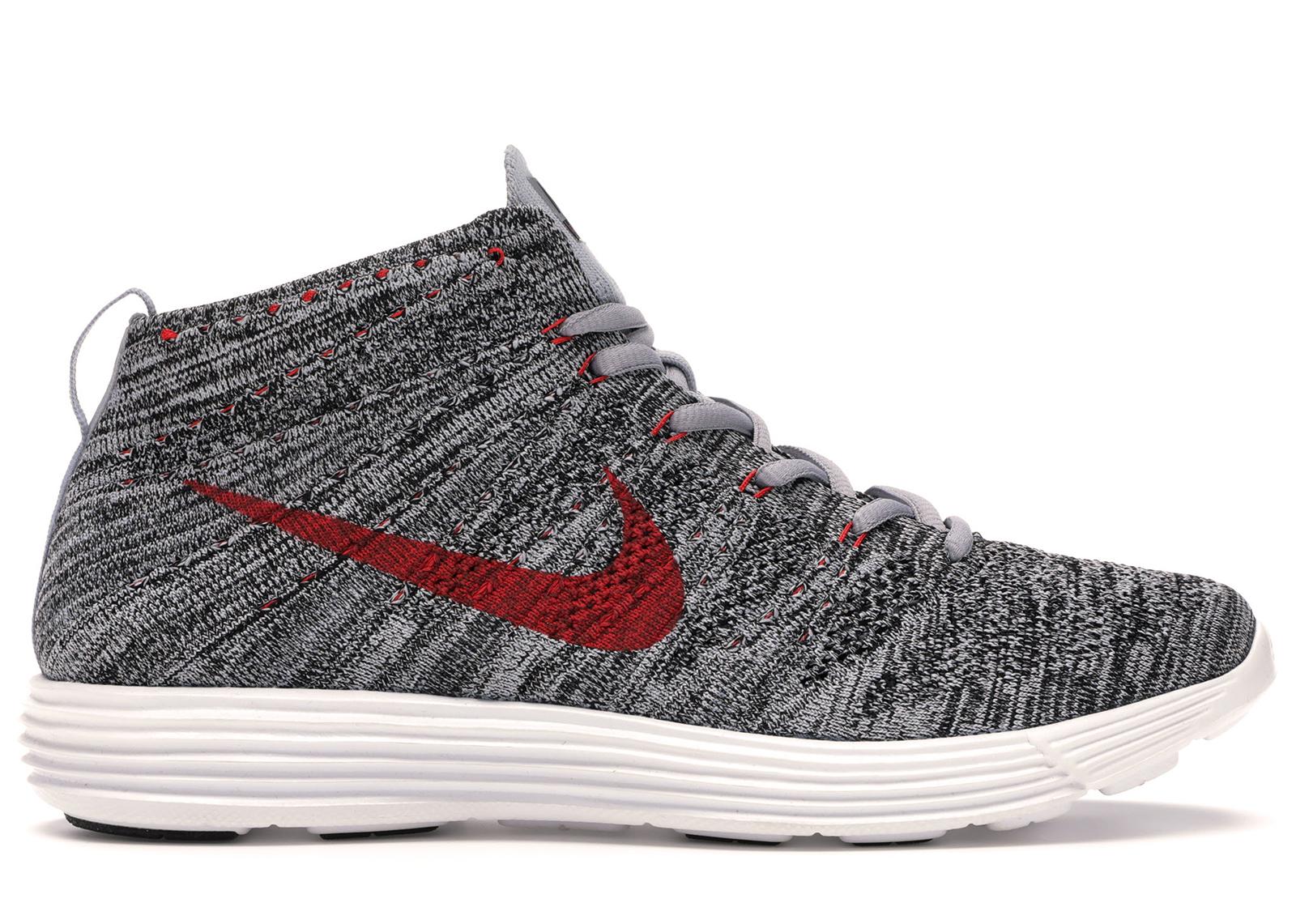 Nike Lunar Flyknit Chukka Wolf Grey Red