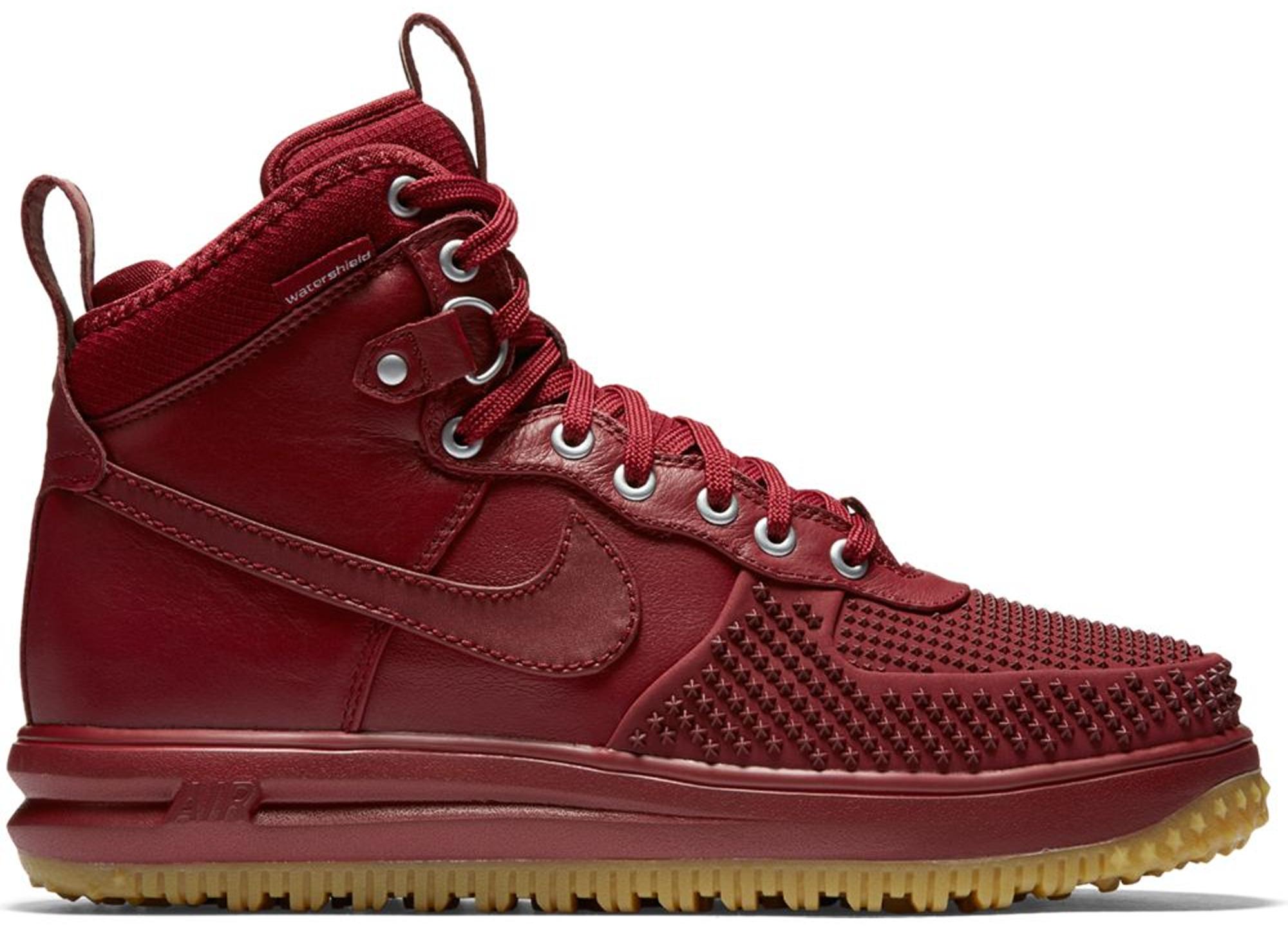 Nike Lunar Force 1 Duckboot 'Team Red & Gum'. Nike