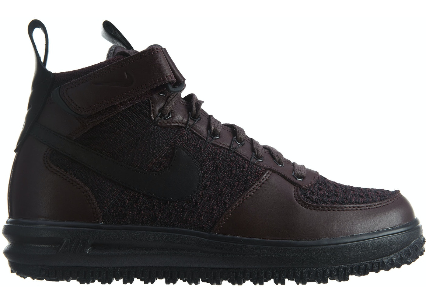 low priced 71f8e 46a56 Nike Lunar Force 1 Flyknit Workboot Deep Burgundy Black - 855984-600