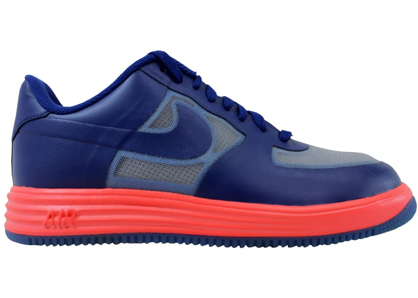 check out 0d337 3ee38 Nike Lunar Force 1 Fuse Lthr Royal Blue Neon Orange - 599839-001