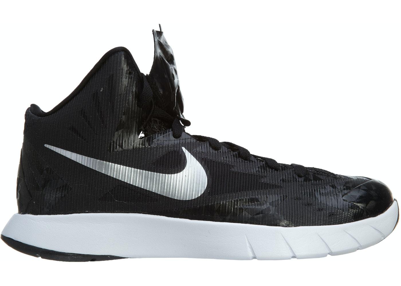 Nike Lunar Hyperquickness Tb Black Metallic Silver-White - 652775-001 eadd05458