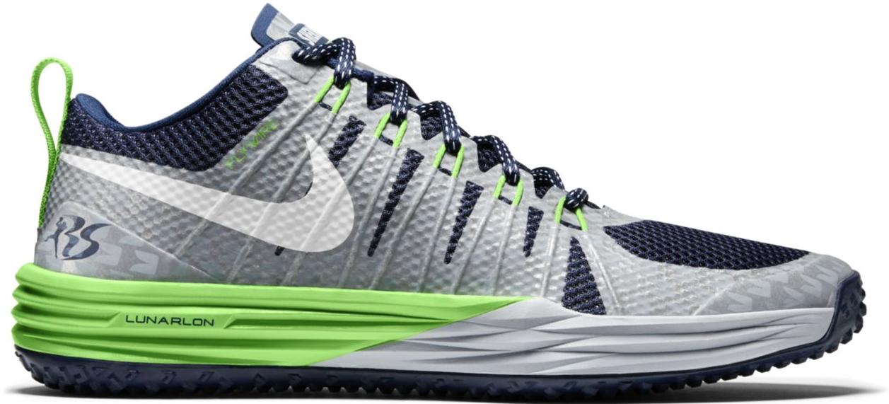 Nike Lunar TR1 Richard Sherman Sneakers (College Navy/White-Action Green-Wolf Grey)
