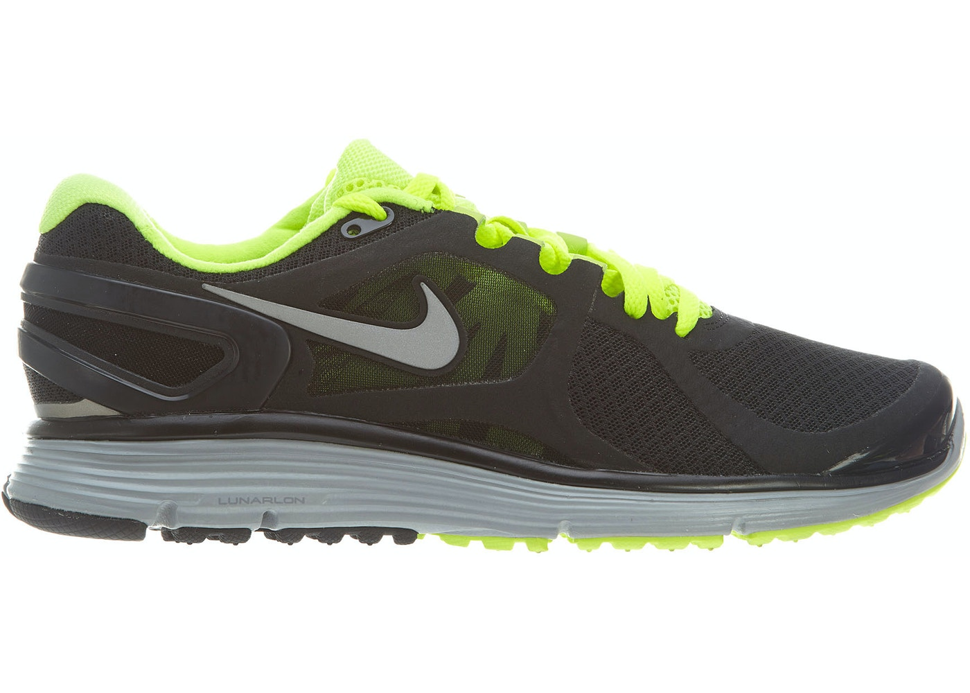 competitive price e554c 6cb24 Nike Lunareclipse + 2 Black Volt Wolf Grey Reflect Silver - 487983-007