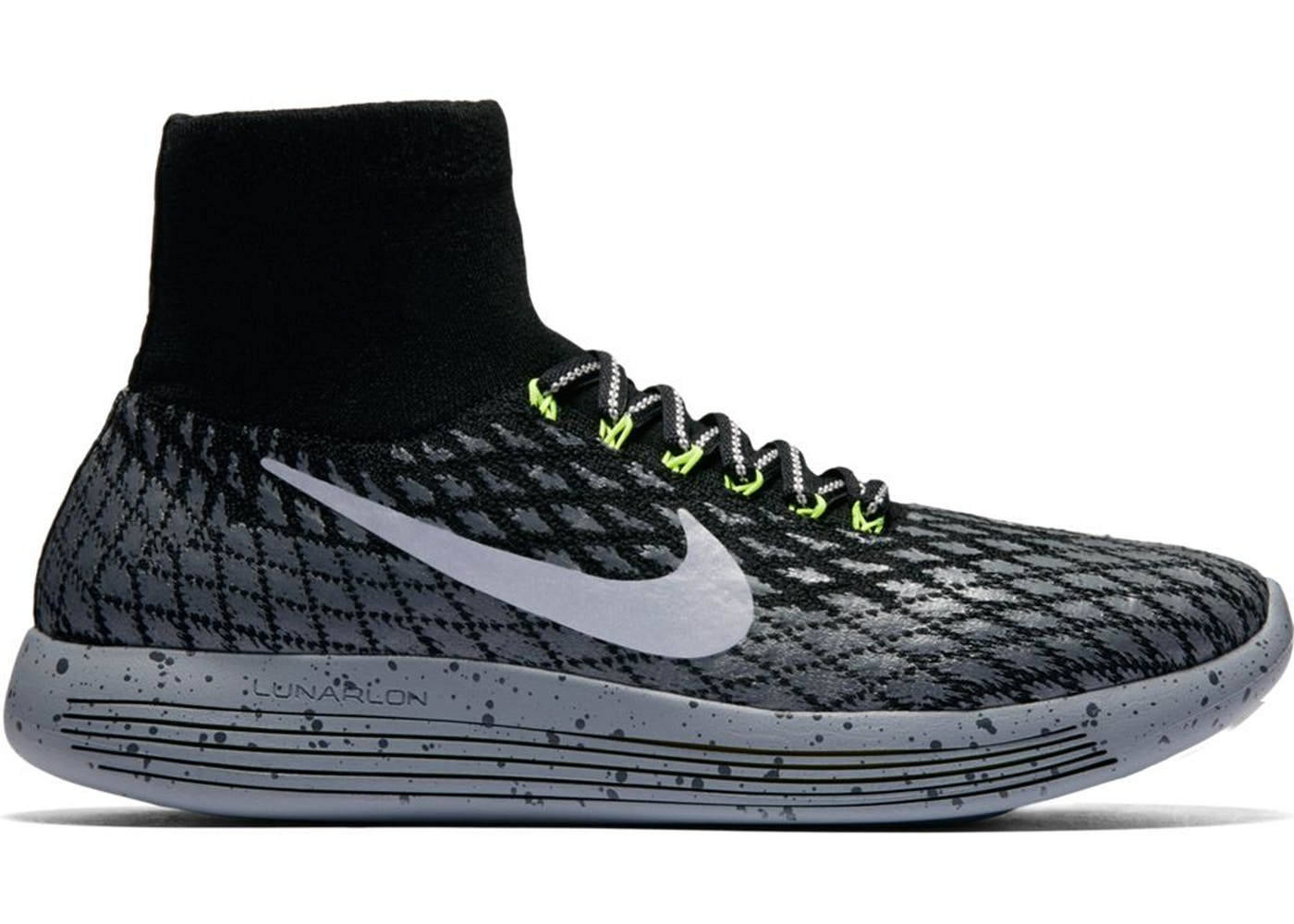 separation shoes 4a51f 257ea Nike Lunarepic Flyknit Shield Black Silver Volt (W)