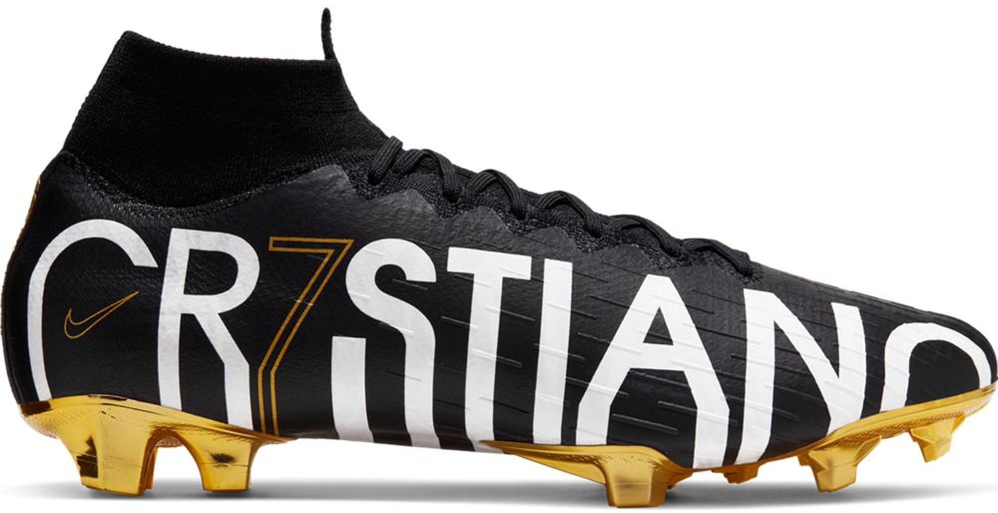 save off d6a11 ee253 nike mercurial cr7 gold and black