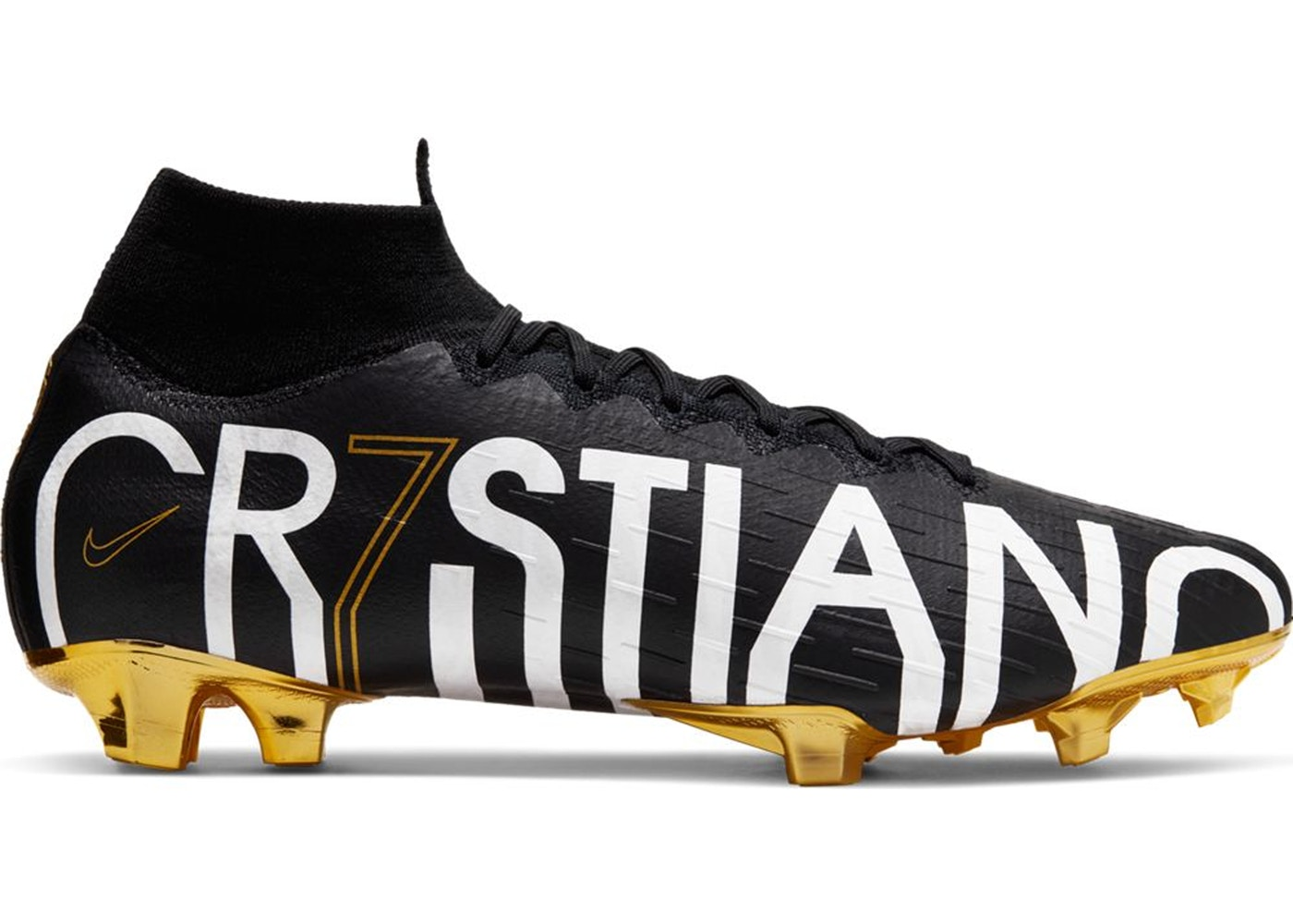 25305f9f1 Nike Mercurial Superfly 6 Elite CR7 FG Cristiano Ronaldo Black Gold ...