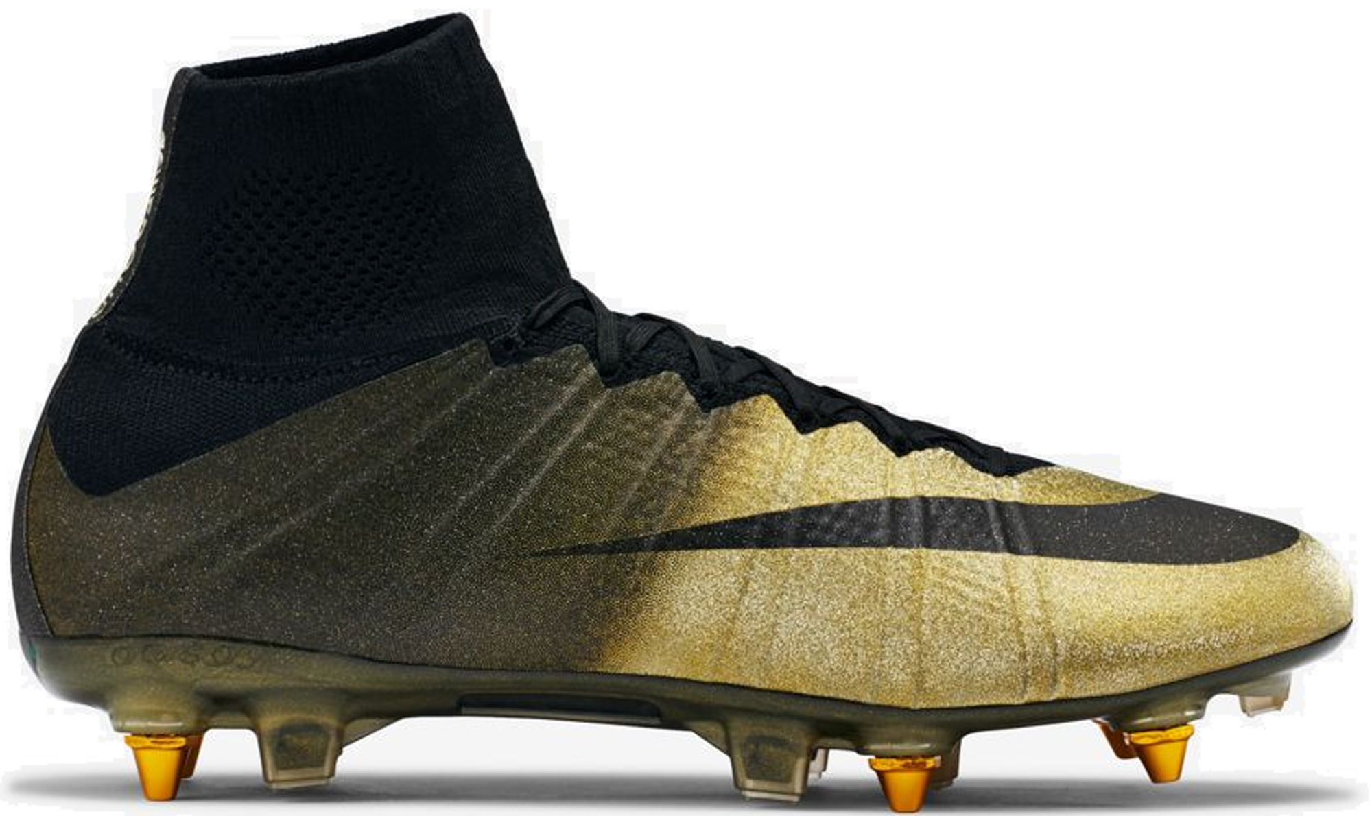 nike golden football shoes