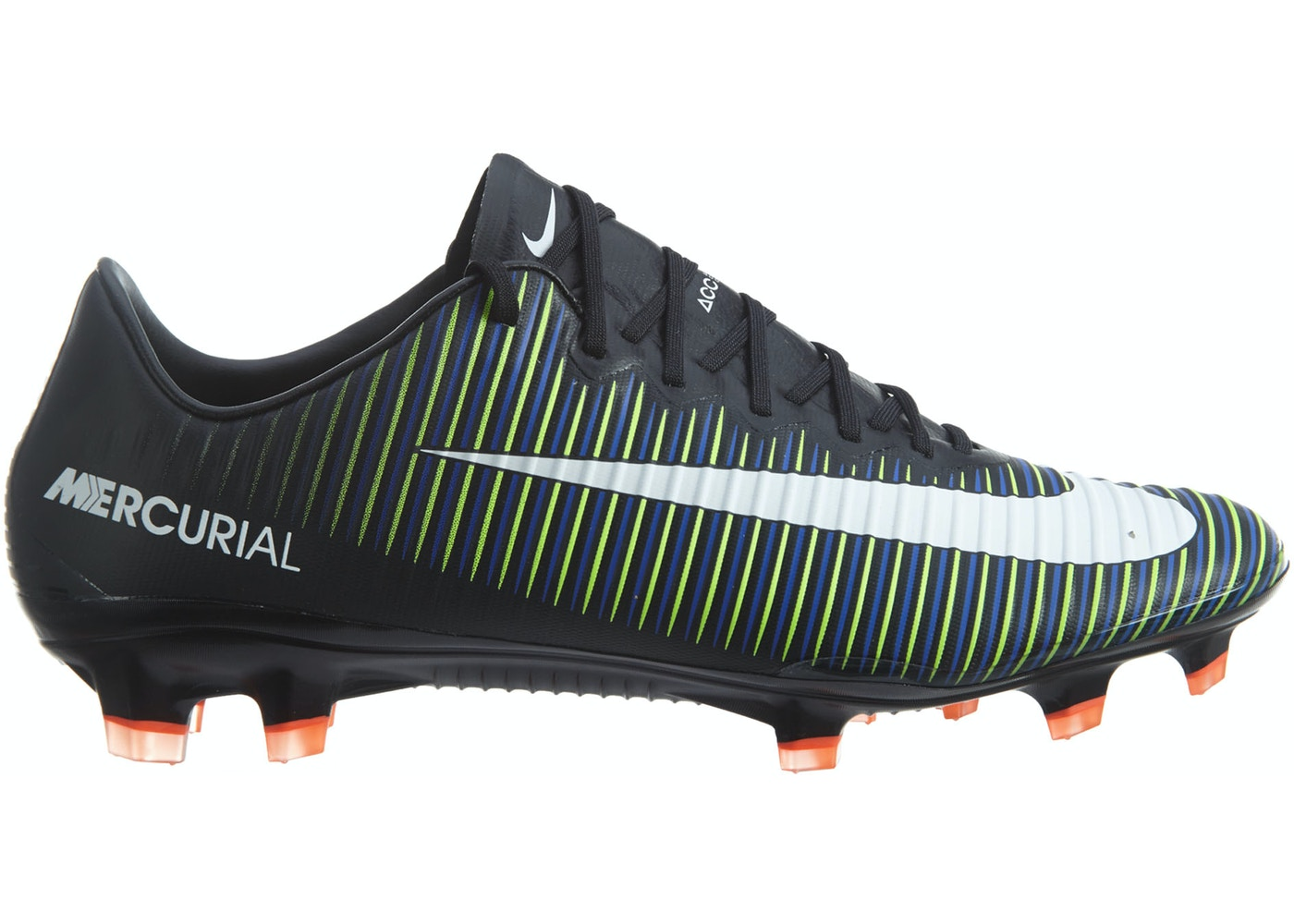 big sale 6488f e30b5 Nike Mercurial Vapor Xi Fg Black White-Electric Green