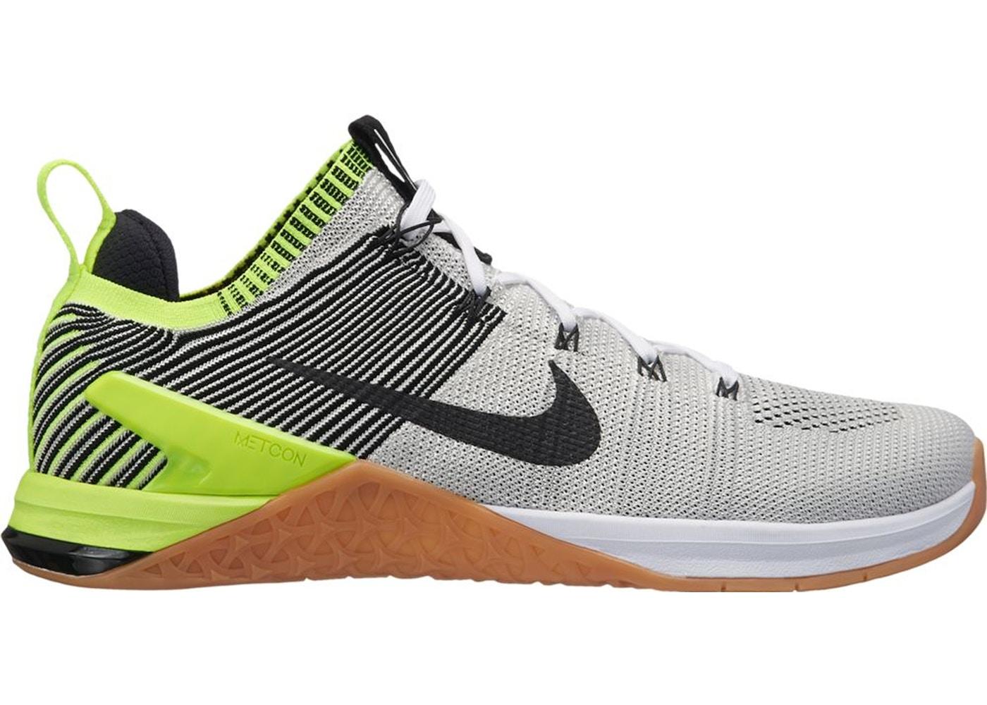 91927c150d0 Nike Metcon DSX Flyknit 2 White Black Volt Gum