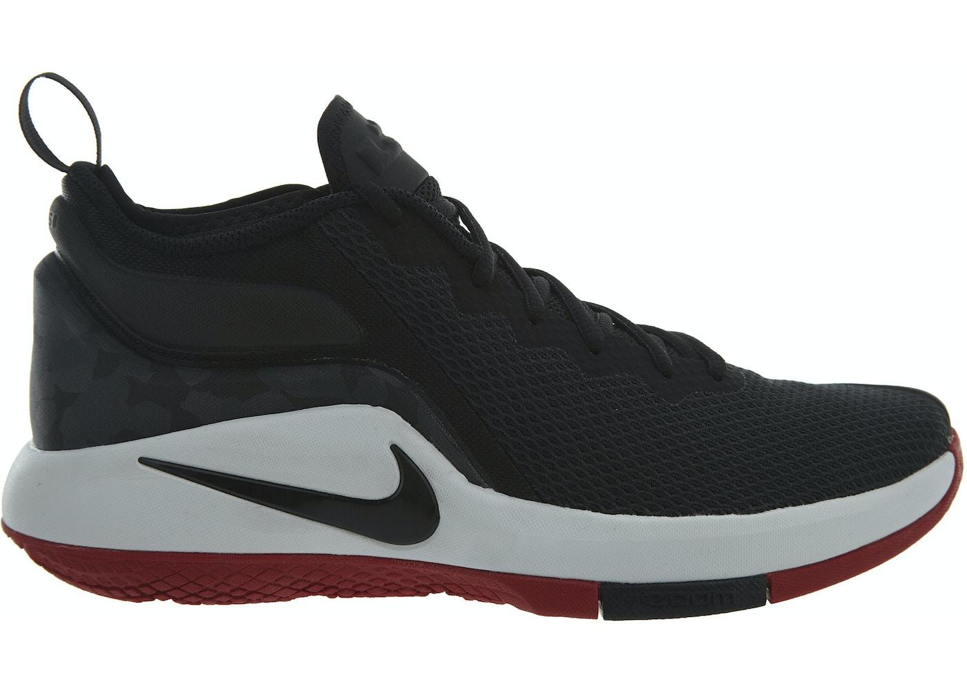 sports shoes 77fb6 677c0 Nike Lebron Witness II Black Black-White-Gym Red - 942518-006