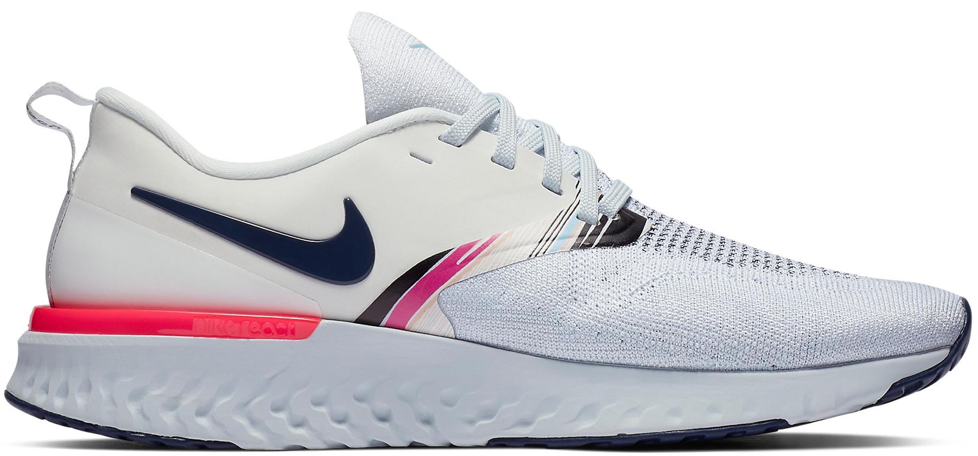 Nike Odyssey React 2 Flyknit White Blue Void Hyper Pink (W)