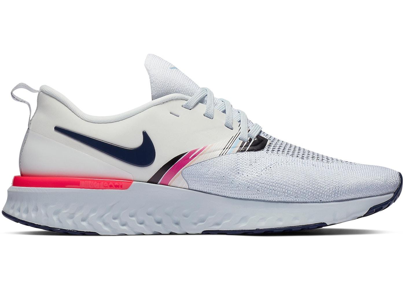 20857f49c9411 Nike Odyssey React 2 Flyknit White Blue Void Hyper Pink (W) - AV2608-146