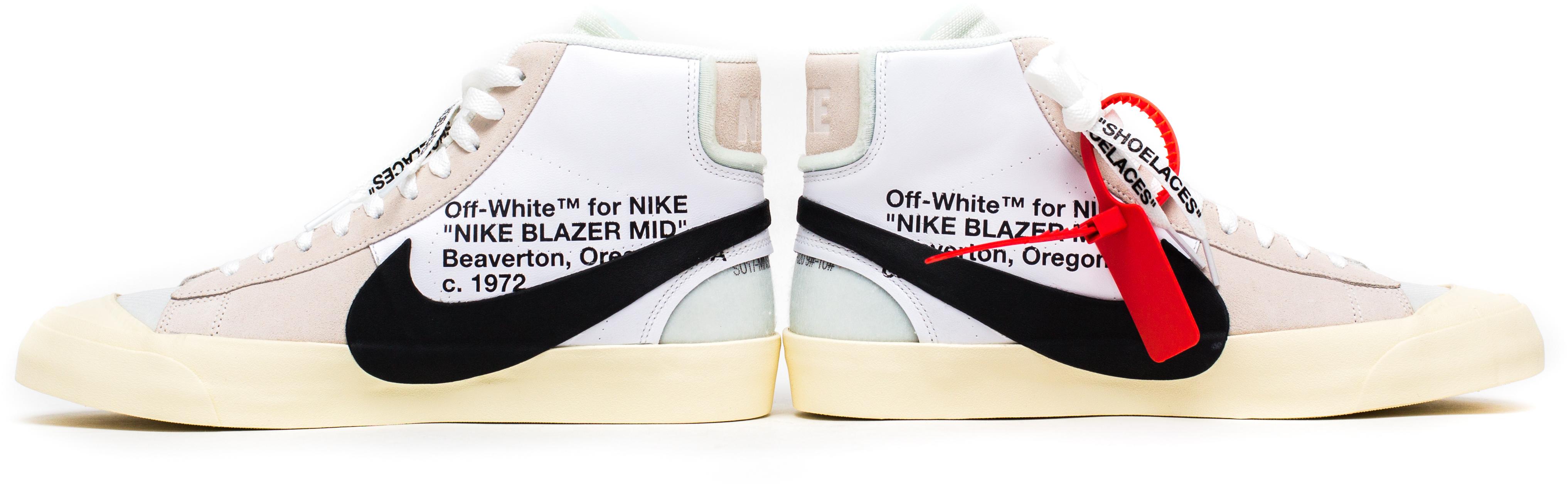 white nike blazers