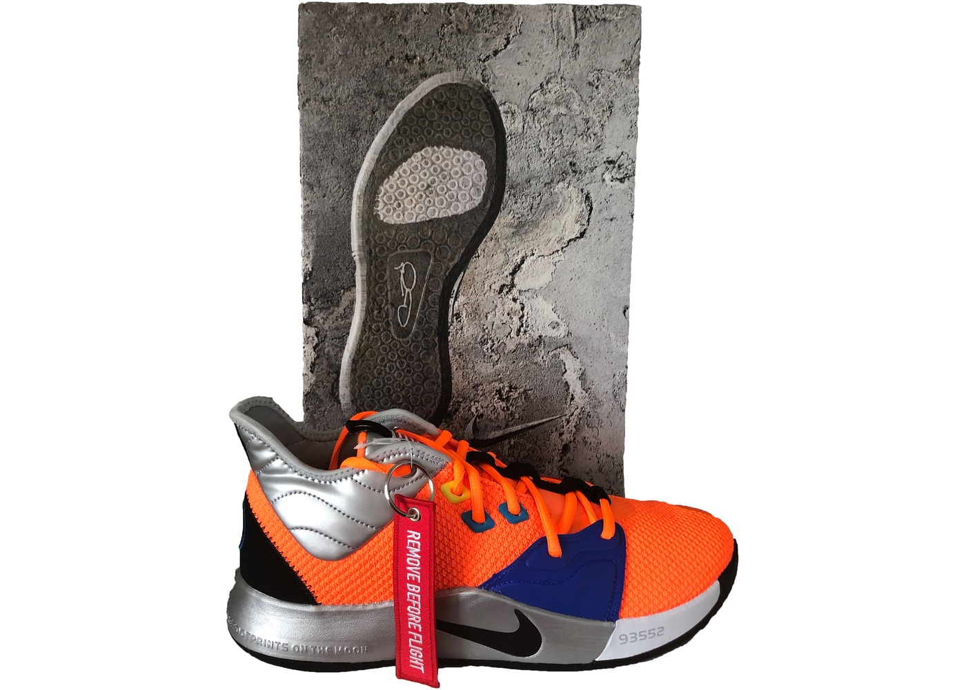 new styles fe267 47bdd Nike PG 3 NASA (Finishline Special Box) - CI2666-800 CI2667-800 ...