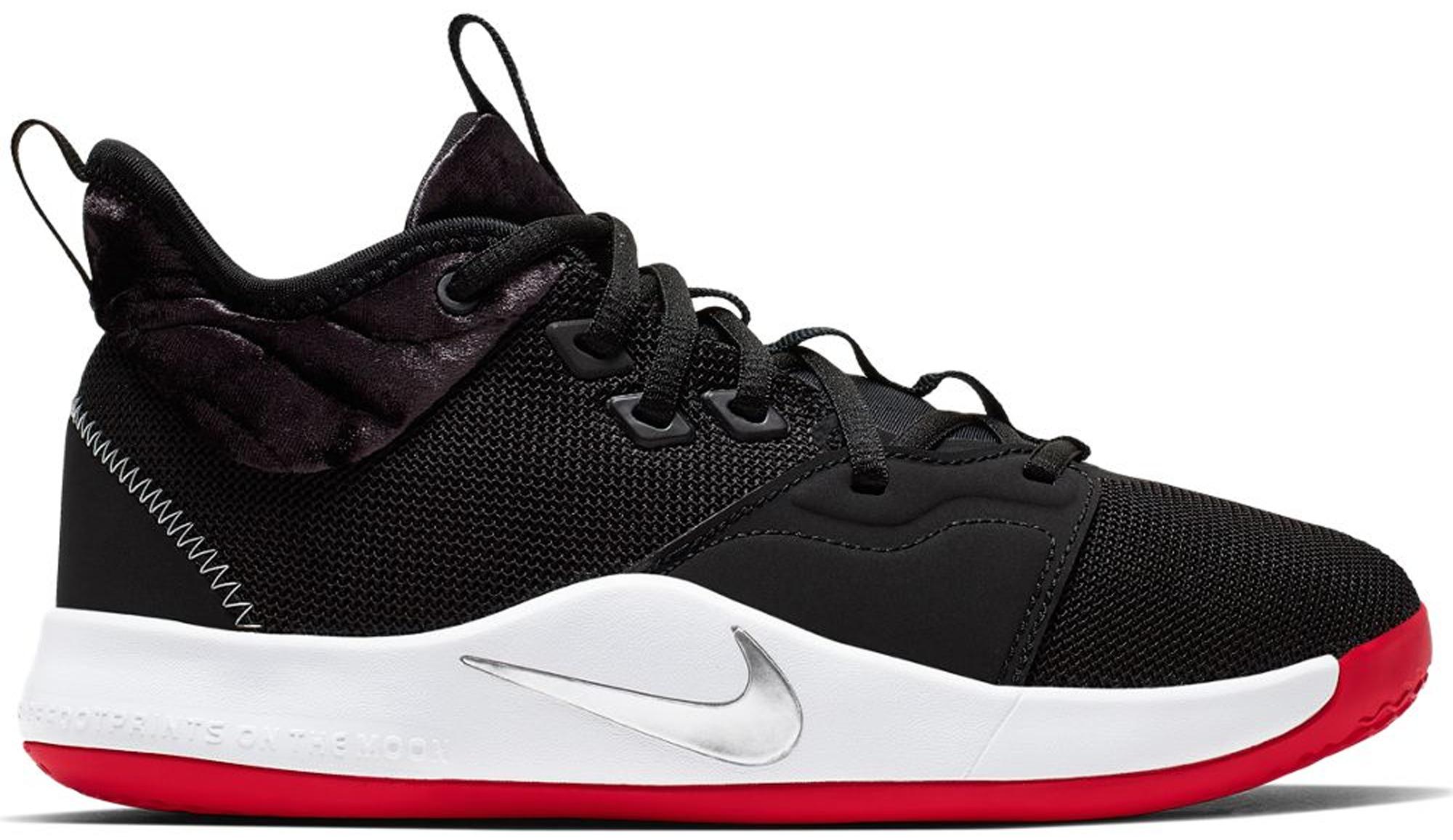 Nike PG 3 Velour Bred (GS) - AQ2462-016