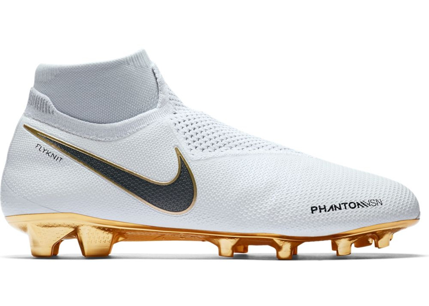 top quality 100% quality speical offer Nike Phantom Vision Elite DF FG White Metallic Gold