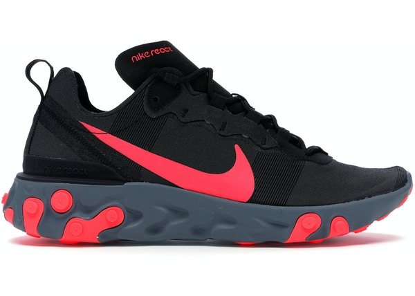 new concept 5a9f6 08f2b Nike React Element 55 Black Solar Red
