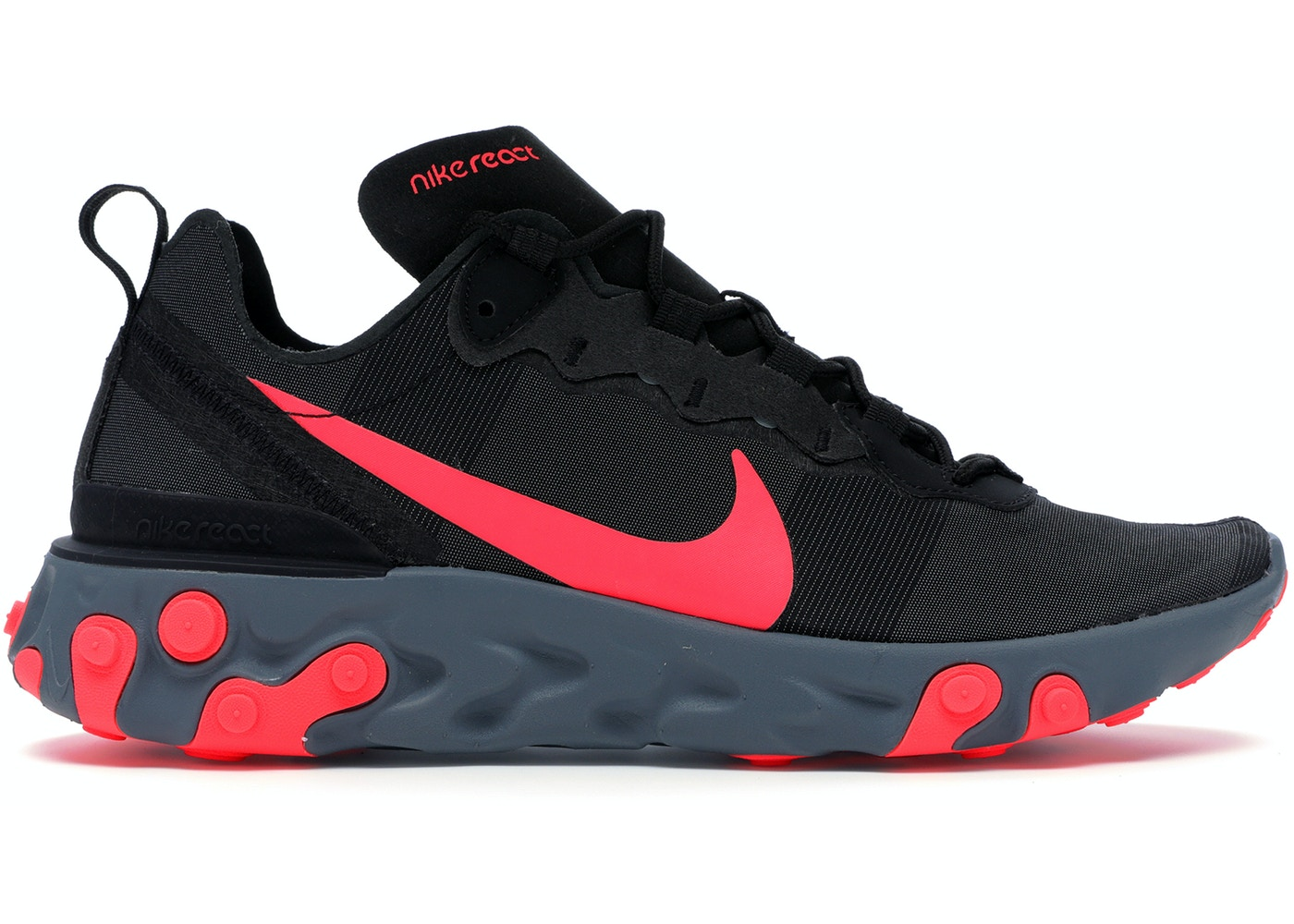06fb95597f375 Nike React Element 55 Black Solar Red