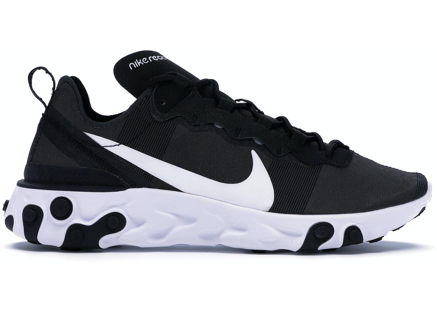 e36aa7b24017 Nike React Element 55 Black White - BQ6166-003