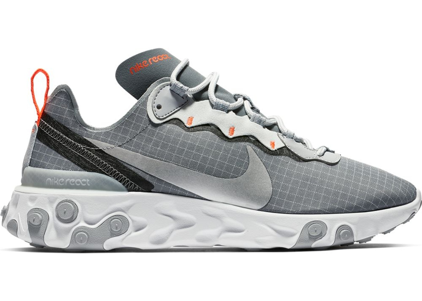 2c028214dc69 Nike React Element 55 Cool Grey Hyper Crimson