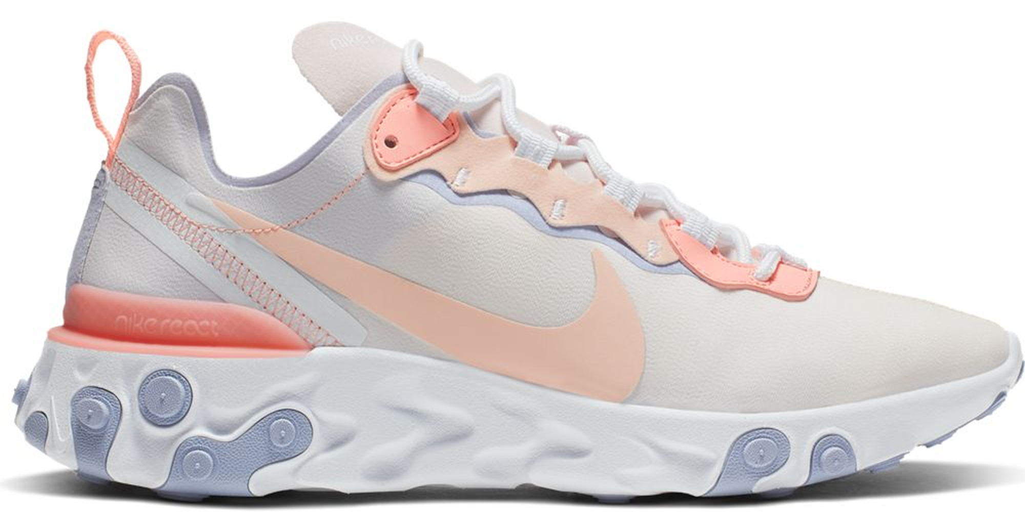 Nike React Element 55 Pale Pink Washed