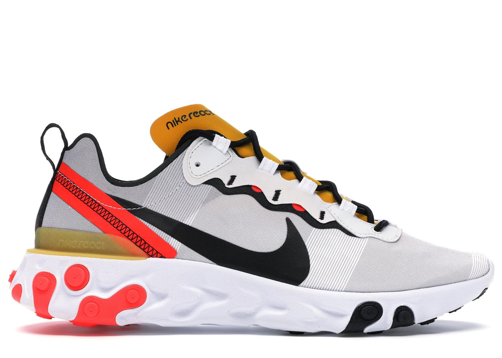 Nike React Element 55 White Black