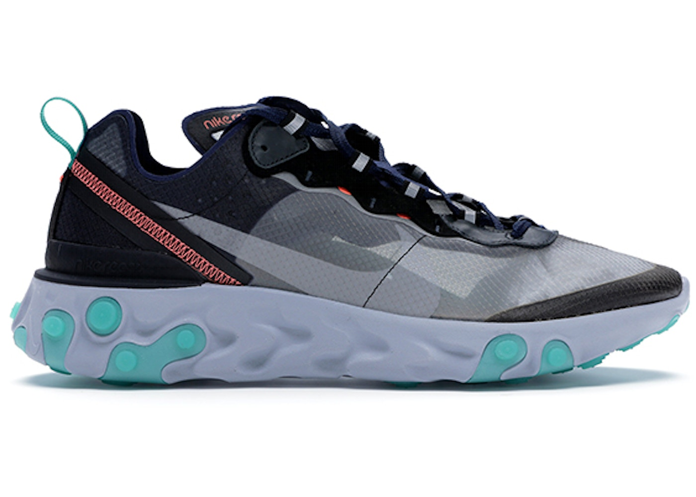 0c83a791ddc31 Nike React Element 87 Black Neptune Green