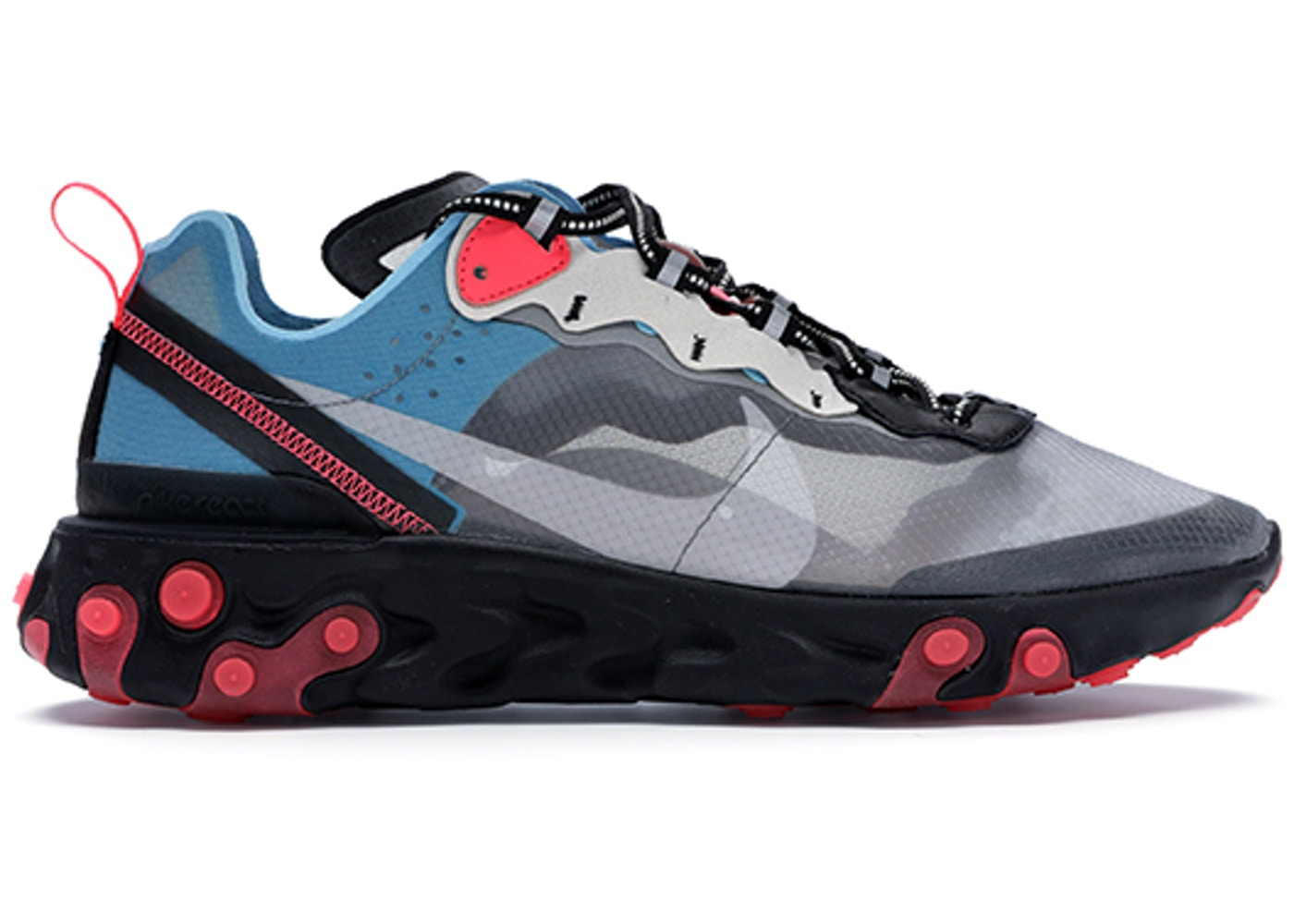 4eb4860c2198 Nike React Element 87 Blue Chill Solar Red - AQ1090-006