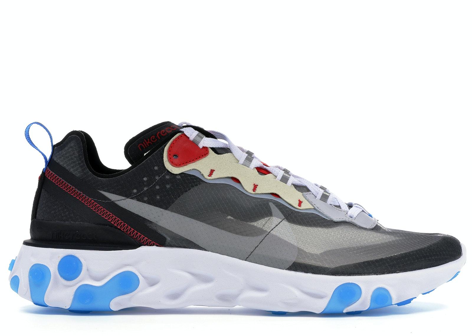 Nike React Element 87 Dark Grey Photo Blue