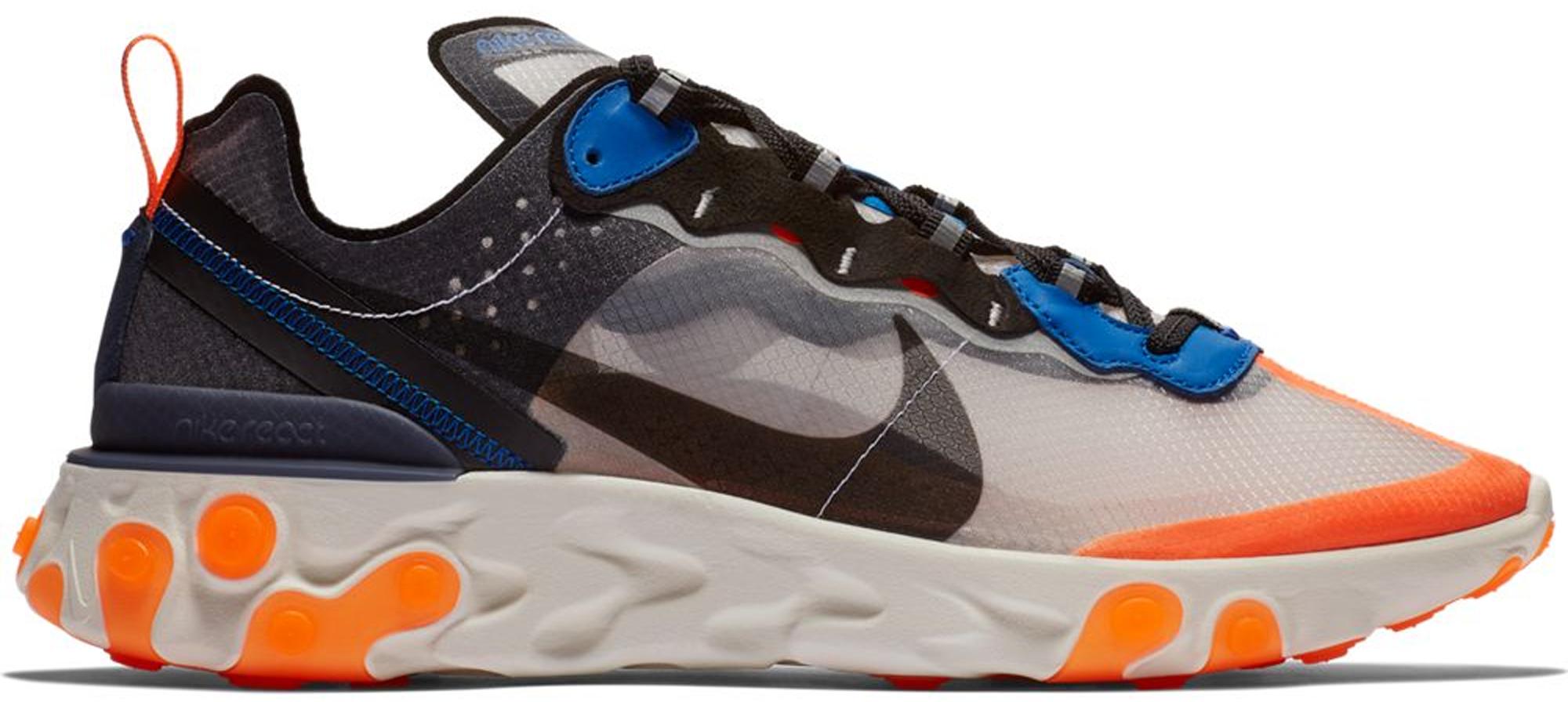 Nike React Element 87 Thunder Blue/Total Orange