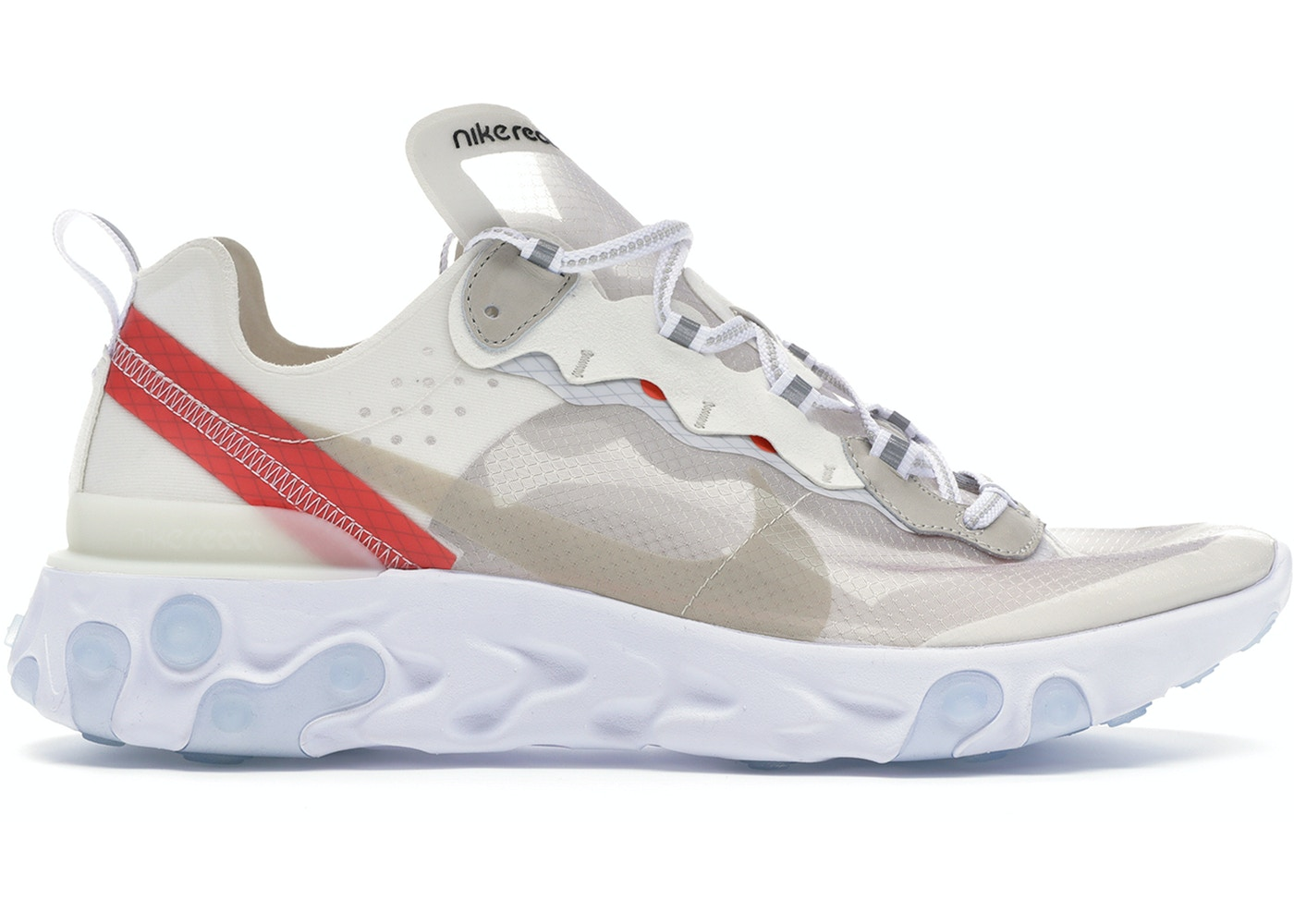 save off 01d01 19918 Nike React Element 87 Sail Light Bone - AQ1090-100