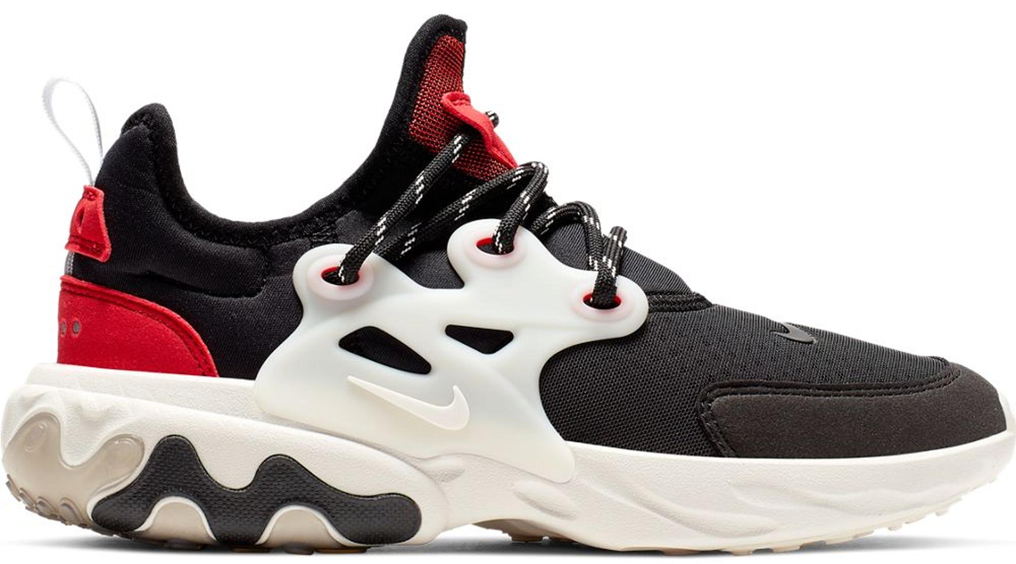 Nike React Presto Black Phantom Red (GS)