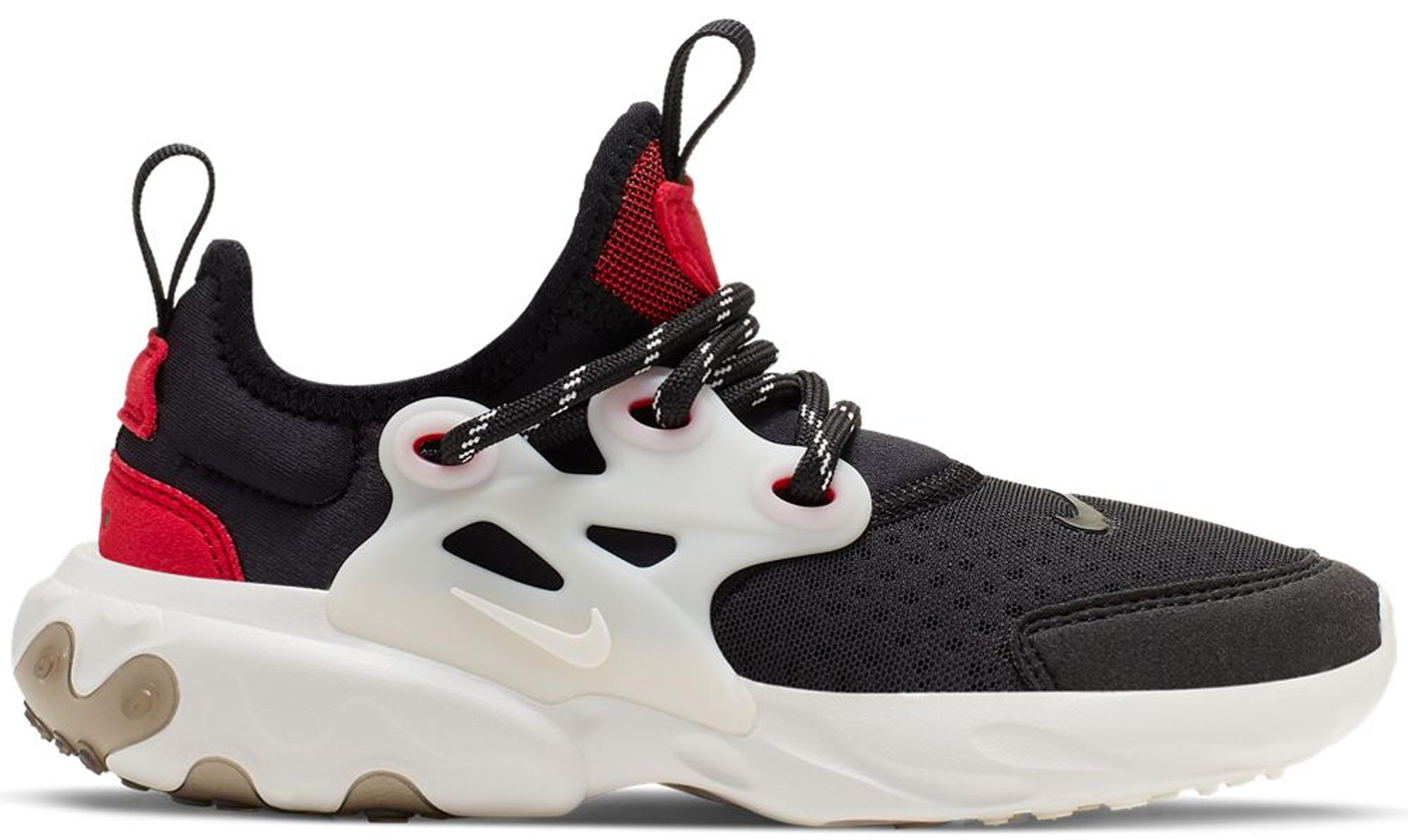 Nike React Presto Black Phantom Red (PS)