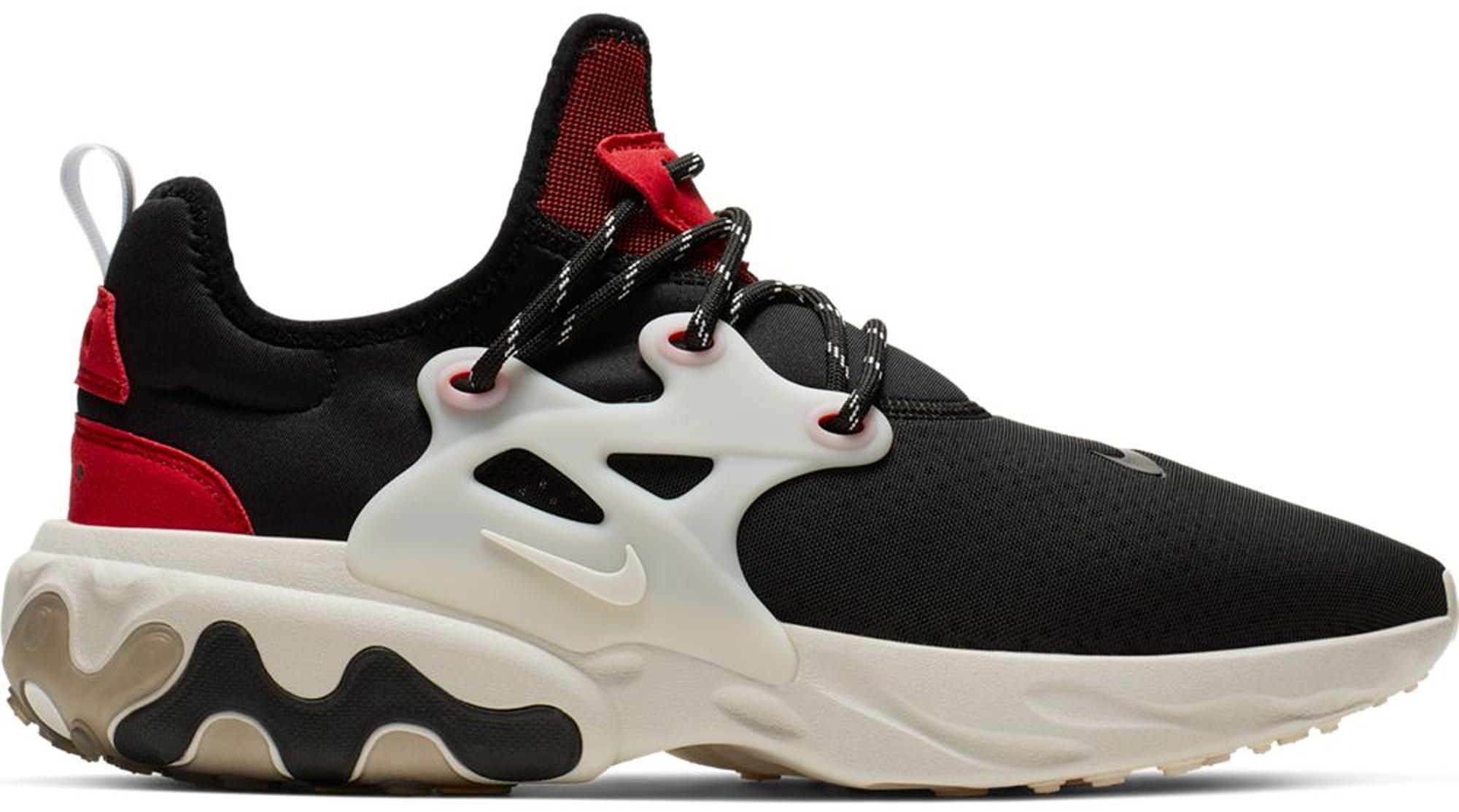 Nike React Presto Black Phantom Red