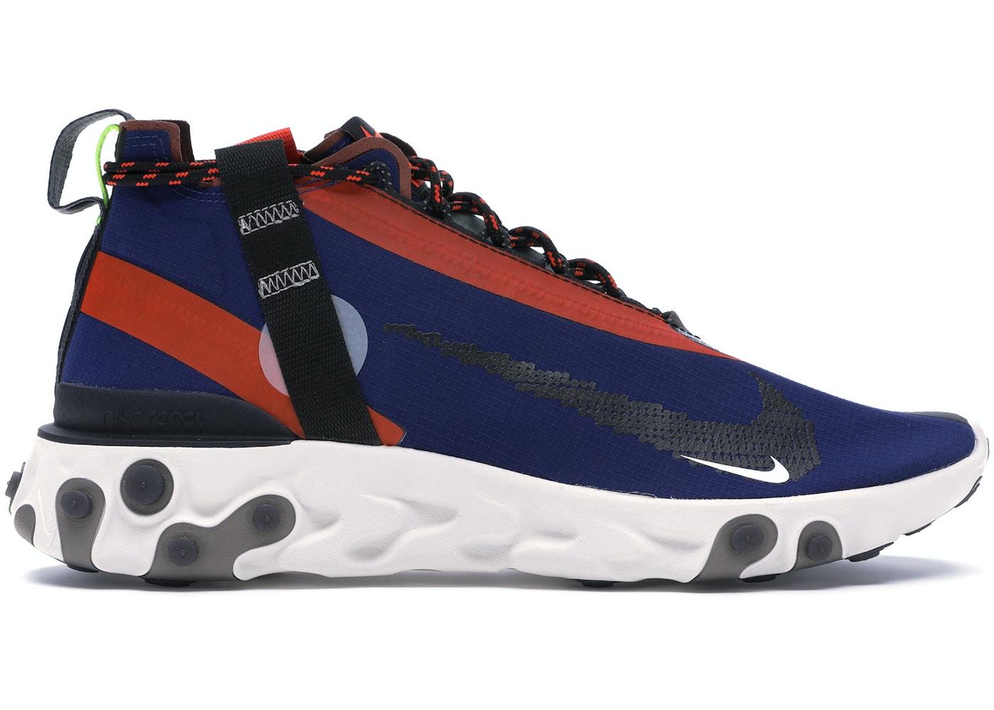 heno Precaución Prestado  Nike React Runner Mid WR ISPA Blue Void Team Orange - AT3143-400