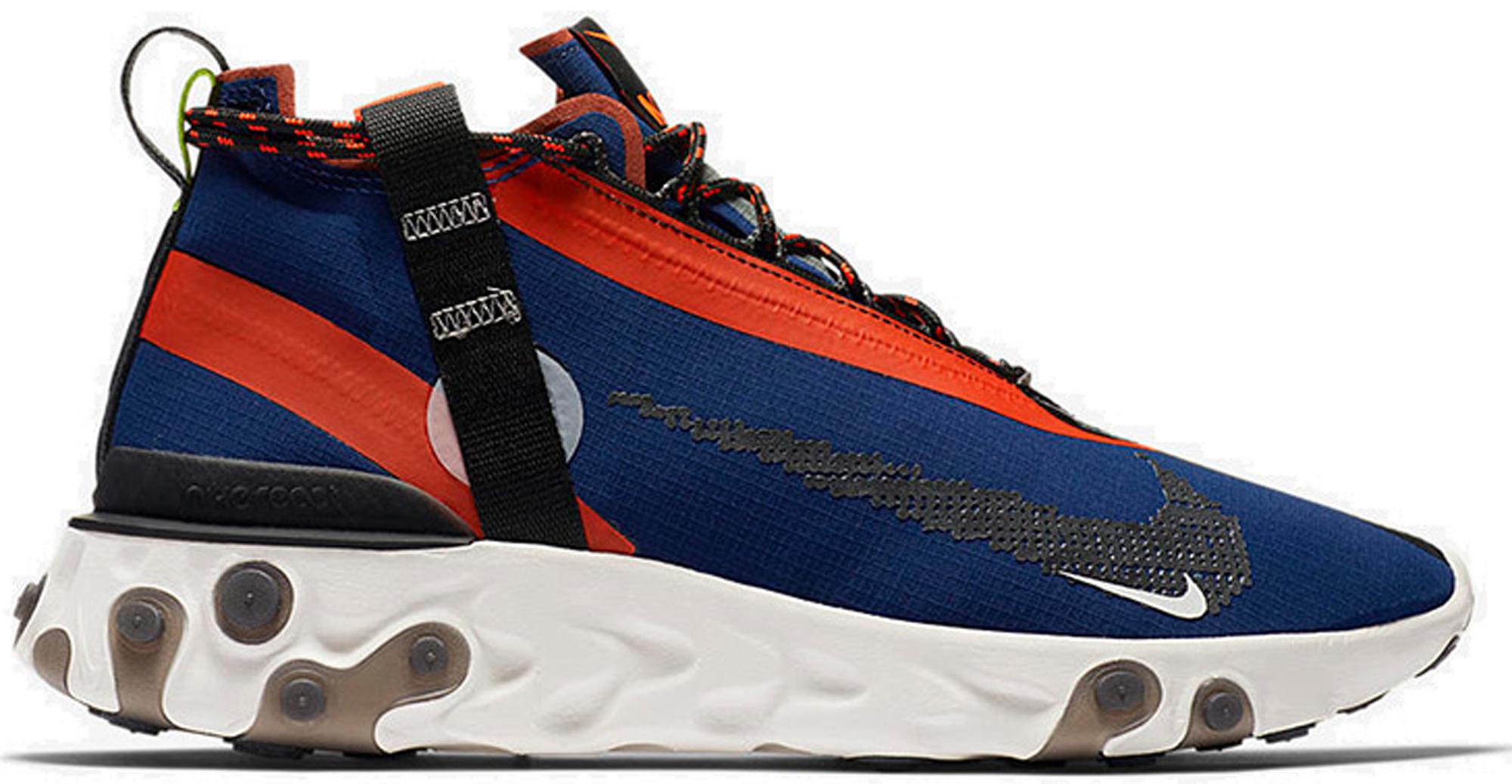 Nike React Runner Mid WR ISPA Blue Void Team Orange